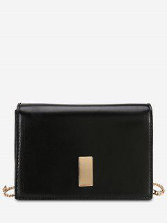Vintage Link Chain Design Mini Crossbody Bag - Black