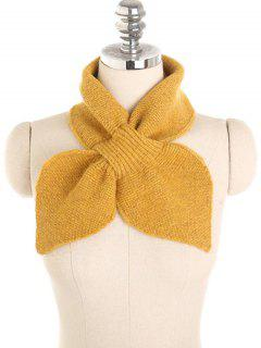 Solid Color Crochet Scarf - Bright Yellow