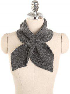 Solid Color Crochet Scarf - Smokey Gray