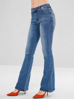 Pantalones Vaqueros De Cintura Baja Bootcut Jeans - Azul Denim L