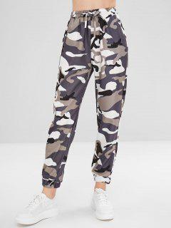 Camo Drawstring Pants - Acu Camouflage L