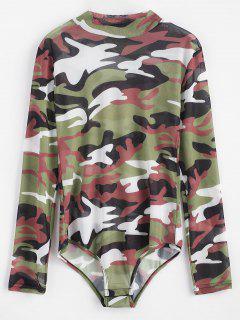 Camouflage Snap Button Bodysuit - Woodland Camouflage M