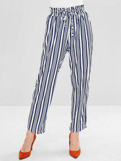 Ninth Stripes Drawstring Straight Pants - Midnight Blue M