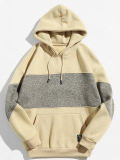 Drop Shoulder Panel Hoodie - Light Khaki 2xl