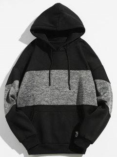 Drop Shoulder Panel Hoodie - Black M