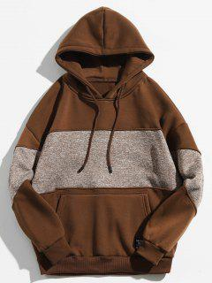 Drop Shoulder Panel Hoodie - Coffee Xl