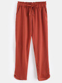 Pantalon à Taille élastique - Chocolat S