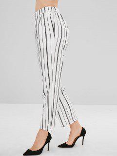 Stripes Ninth Straight Pants - White L
