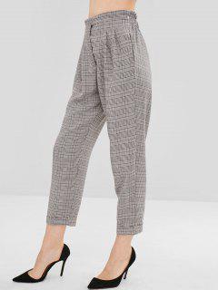Pantalon Droit à Revers Et à Carreaux - Multi L