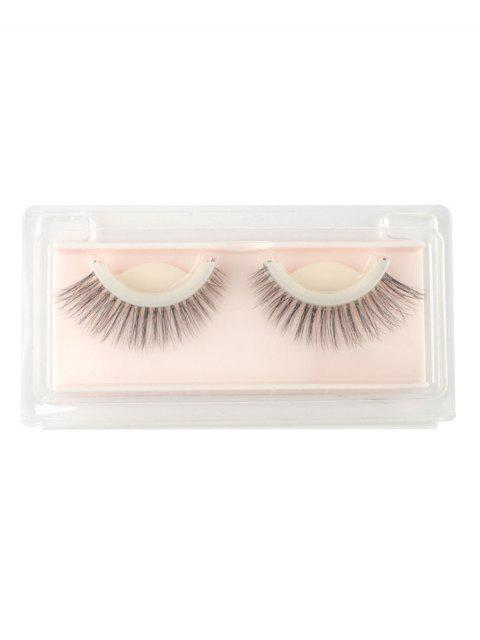 outfit Cosmetic Natural Long Handmade False Eyelashes - BLACK  Mobile