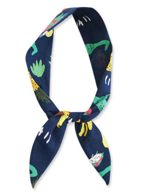 shop Pineapple Plant Pattern Decorative Headband - NAVY BLUE  Mobile