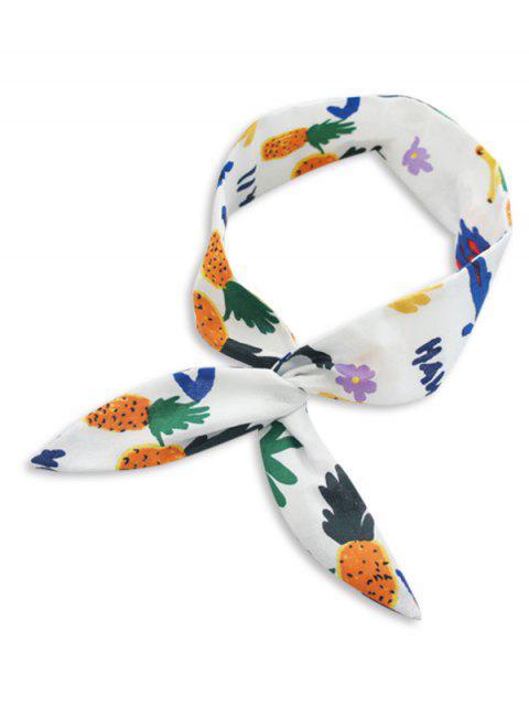 shops Pineapple Plant Pattern Decorative Headband - WHITE  Mobile