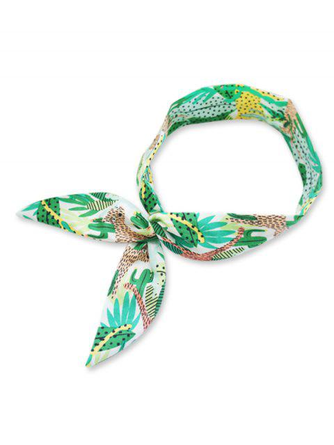 trendy Pineapple Plant Pattern Decorative Headband - AQUAMARINE  Mobile