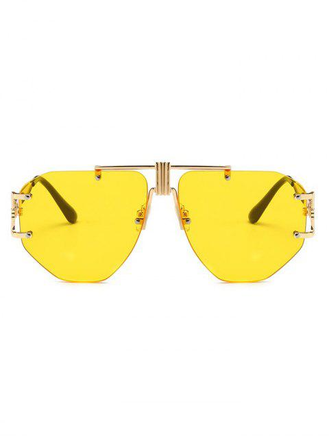 affordable Punk Alloy Rimless Sunglasses - YELLOW  Mobile