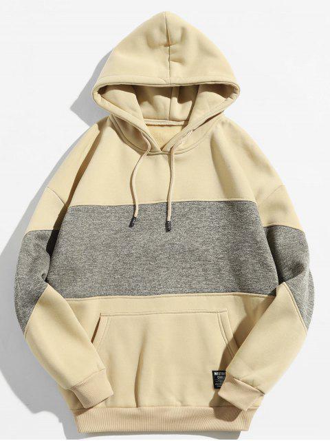 Drop Schulter Panel Hoodie - Helles Khaki XL Mobile