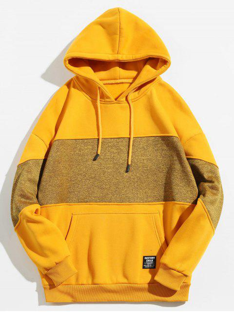 Drop Schulter Panel Hoodie - Goldrute S Mobile