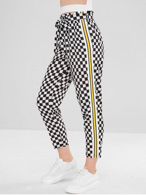 Pantalon droit à carreaux et rayures - Multi-C M Mobile