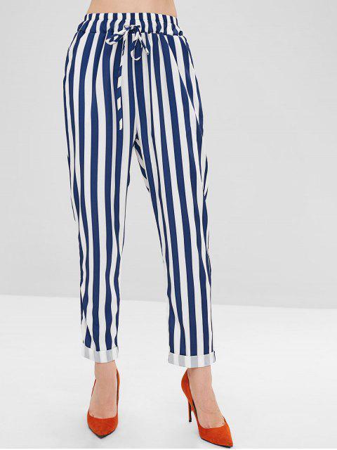 Pantalon Droit Rayé avec Rebords - Multi M Mobile