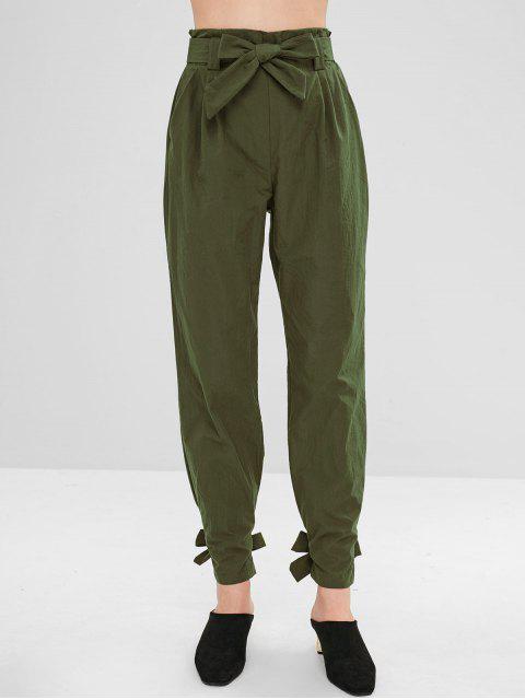 Pantalon droit noué à la ceinture - Vert Armée S Mobile
