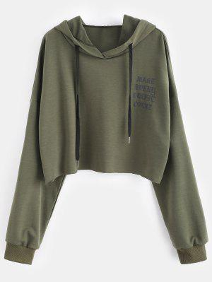 Raw Hem Graphic Plus Größe Hoodie