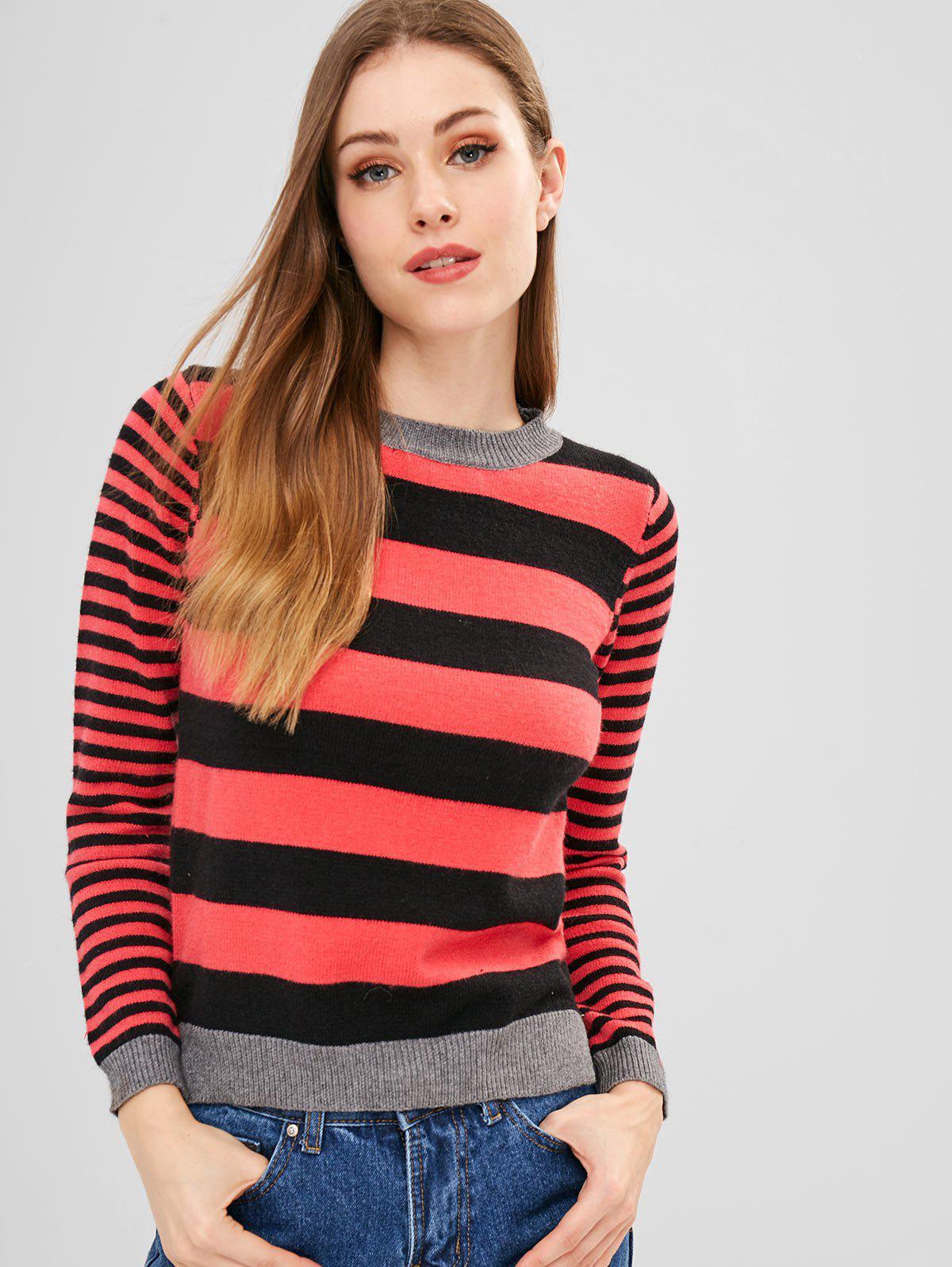 ZAFUL Slit Stripes Sweater