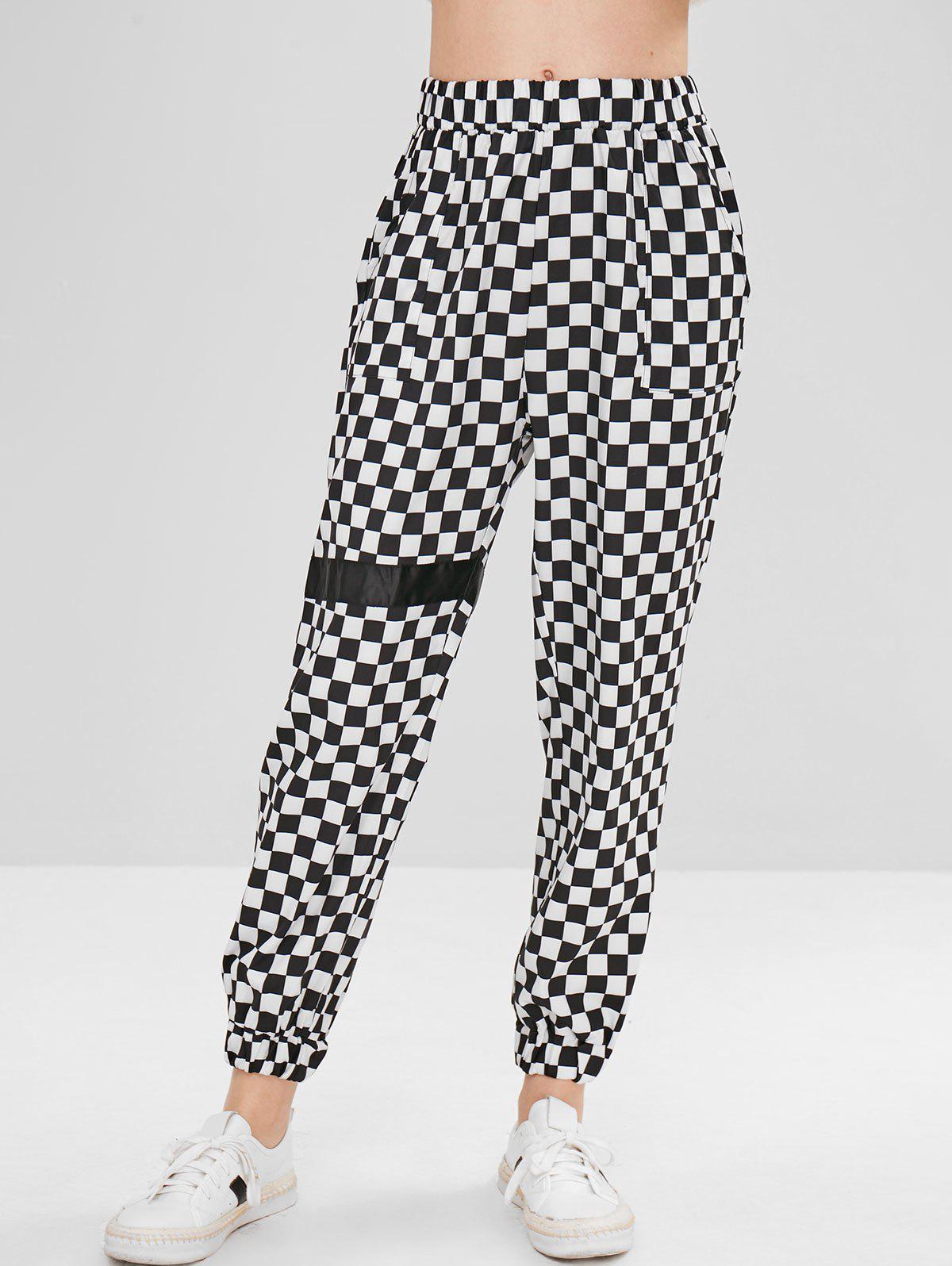 Checkered Jogger Pants, Multi