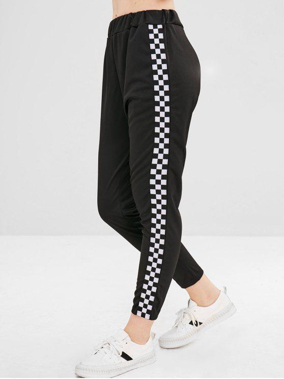 Pantalones Pantalones Cuadros A Cuadros - Negro L