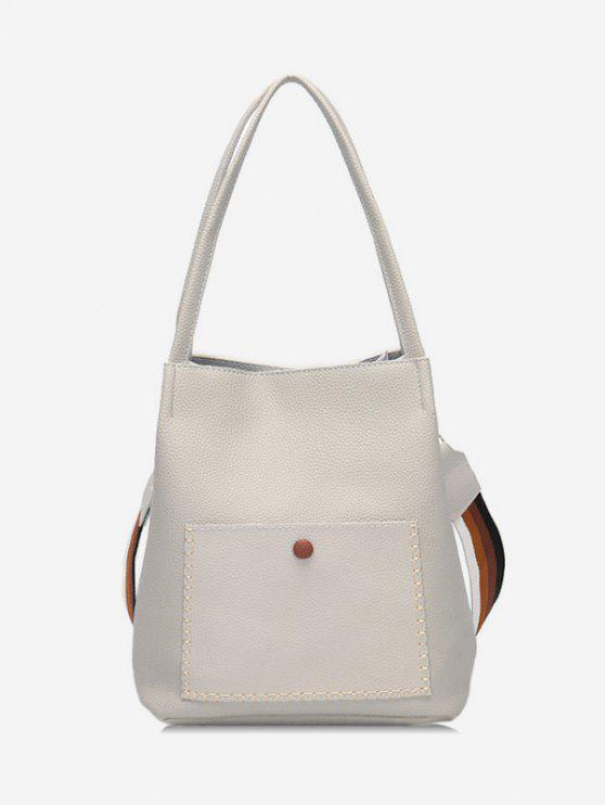 outfits Soild Color Design Vintage Shoulder Bag - COOL WHITE