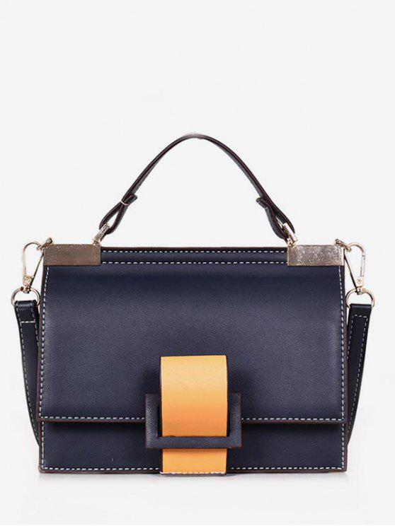 ladies Color Block Cover Design Tote Bag - DEEP BLUE