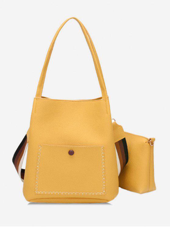 latest Soild Color Design Vintage Shoulder Bag - RUBBER DUCKY YELLOW