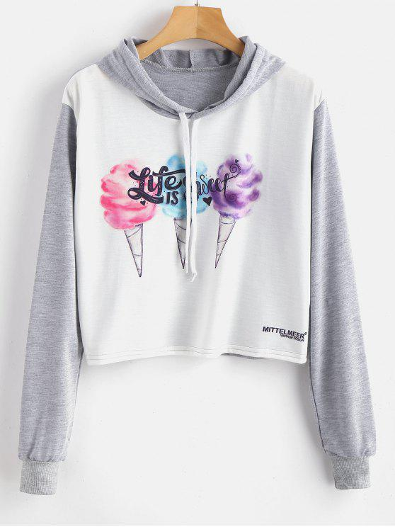 best Ice Cream Graphic Hoodie - MULTI M