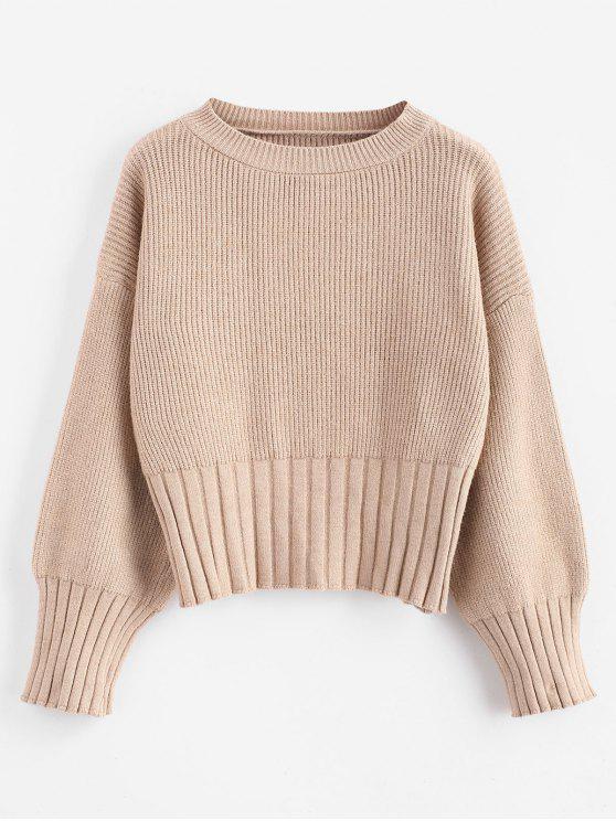 Chunky Crop Sweater - Tan Eine Größe