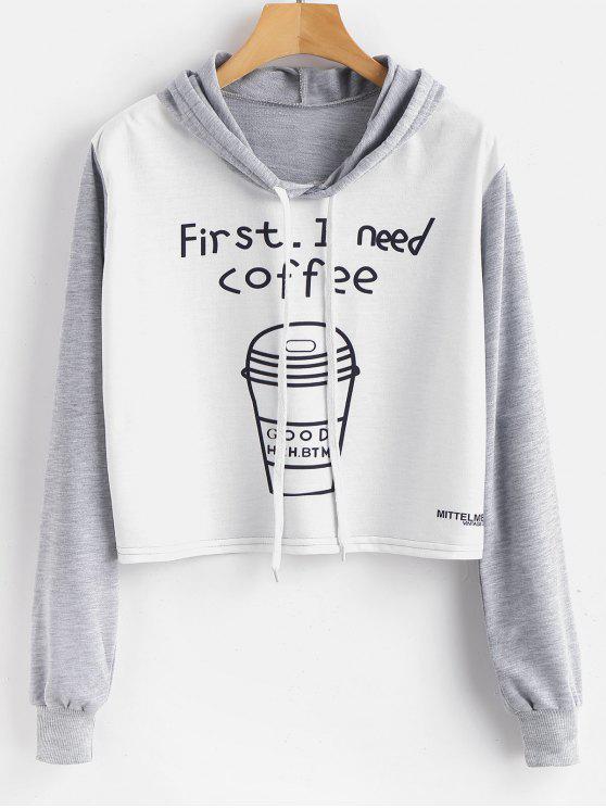 Sudadera con capucha y estampado gráfico de café - Multicolor S