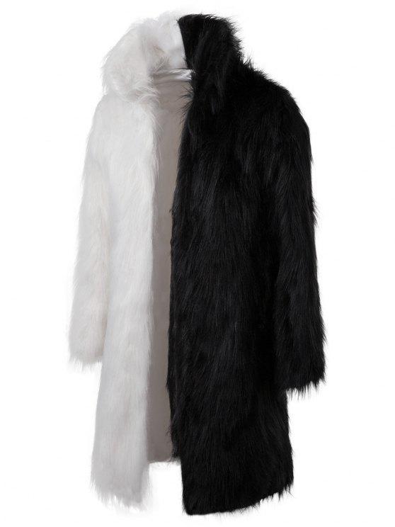 Abrigo largo de piel sintética - Multicolor L