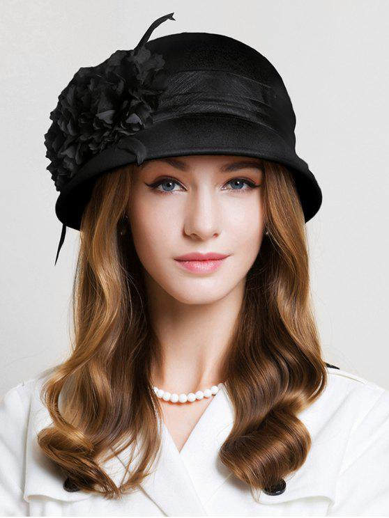 a8d4c59f67fe94 44% OFF] 2019 Retro Flourishing Floral Cloche Hat In BLACK   ZAFUL