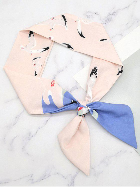 shops Stylish Flying Birds Printing Scarf - SAKURA PINK