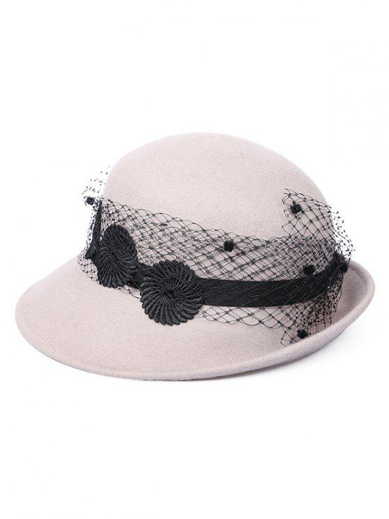 trendy Vintage Curved Brim Mesh Cloche Hat - GRAY CLOUD