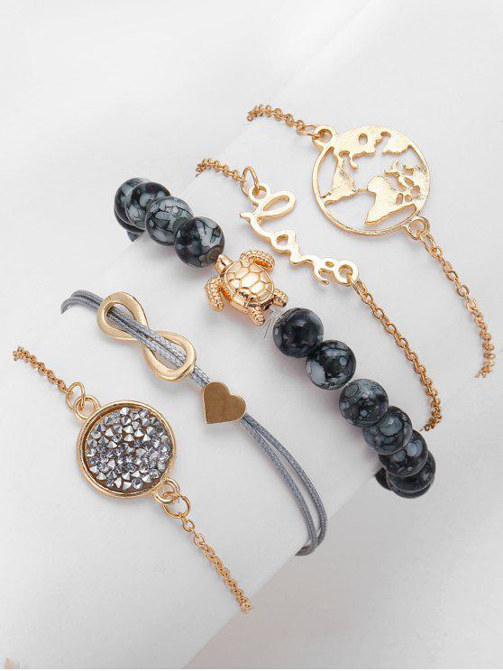 new Infinite Turtle Shape Rhinestone Bracelets - GOLD