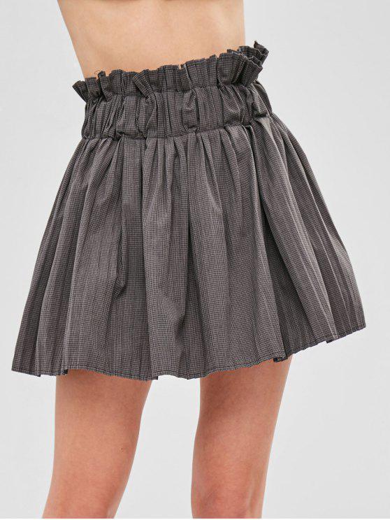 8b1d98409 Minifalda plisada a cuadros con pantalones cortos interiores
