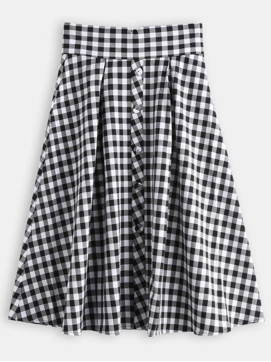 2cff222f4974b 26% OFF  2019 Plaid Back Zipper Pleated Skirt In MULTI