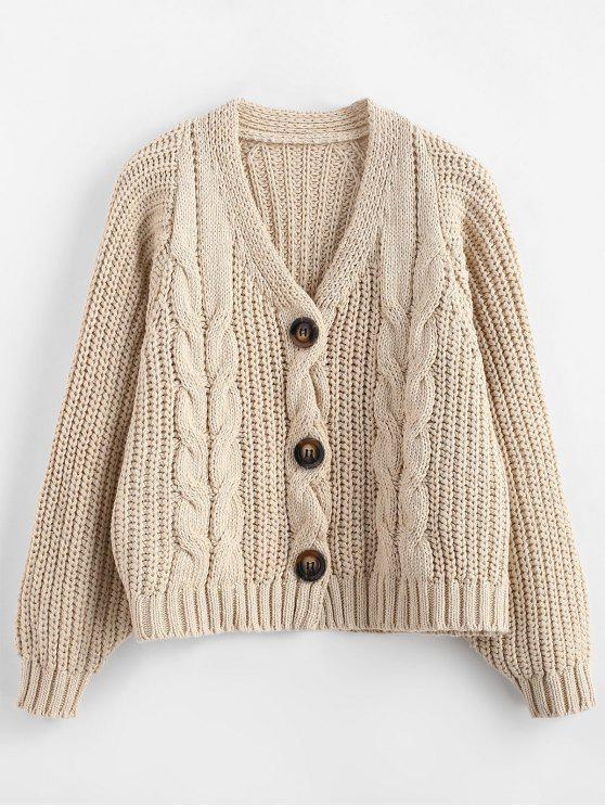 2d4ea583e6 33% OFF  2019 Chunky Button Up Cable Knit Cardigan In APRICOT ONE ...