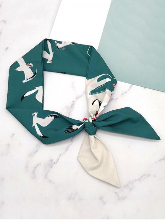 new Stylish Flying Birds Printing Scarf - DARK TURQUOISE