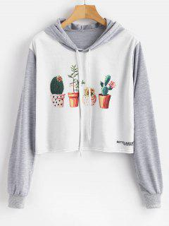 Potted Plants Print Graphic Hoodie - Multi M