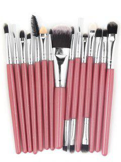 Professional 15 Pcs Fiber Soft Hair Cosmetic Tools Suit - Light Pink