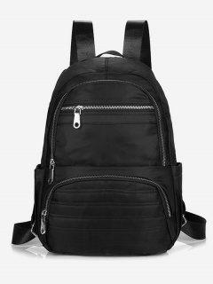 Multilayer Zipper Design Travel Backpack - Black