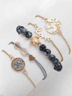 Infinite Turtle Shape Rhinestone Bracelets - Gold