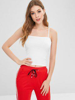 Jersey Cami Top - Blanco
