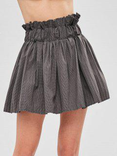 Checked Pleated Mini Skirt With Inner Shorts - Multi L