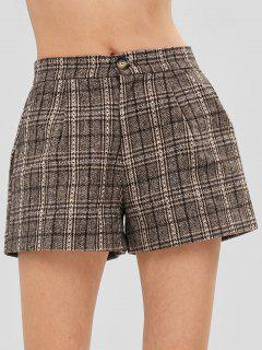 Checked Tweed Shorts - Multi S