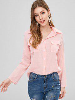 Chemise Boutonnée Avec Poche - Rose  S
